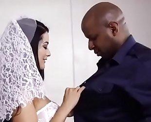 My cuckold wedding night , bride floozy housewife drilled by dark bbc on wedding night