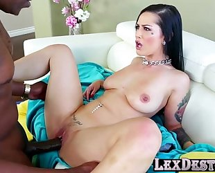 Gorgeous and breasty katrina jade acquires her cookie drilled by lex