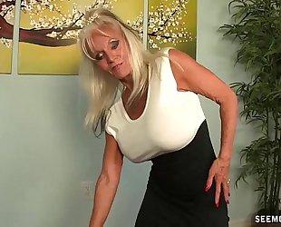 Granny pov oral-sex