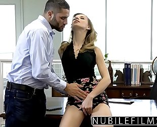 Nubilefilms - office slut screwed untill this babe squirts
