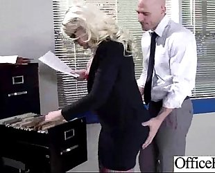 (julie cash) large titties white wife have a fun hard style sex in office clip-19