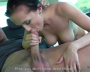 Mea melone assist convince youthful breasty honey to coome in van where drilled merely
