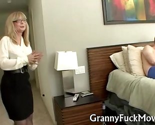 Granny shows how it is done