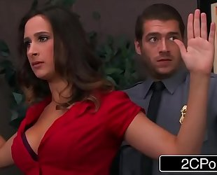 Bossy doxy ashley adams pounded by 2 security guards
