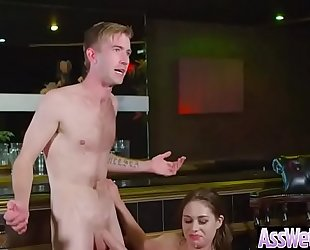 Hot oiled Married slut (cathy heaven) with biggest butt have a fun anal sex vid-15