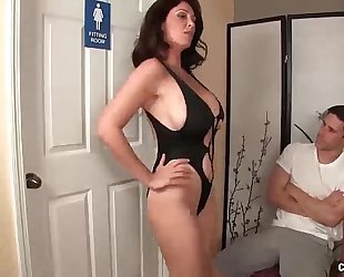 Angry step-mom jerking the youthful chap