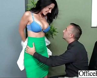 Lovely slutty wife (jayden jaymes) with large melons acquire team-fucked hard style in office movie-16