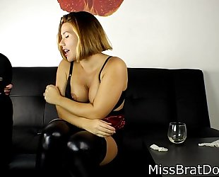 Bp122- fedmom humiliation - compulsory to take up with the tongue pussy- preview