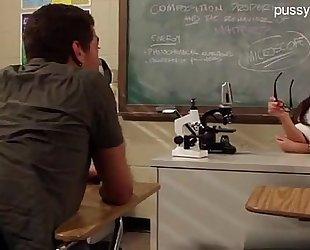 Hot teacher bonks student