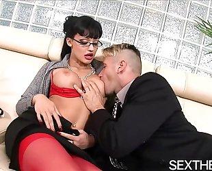 Aletta ocean gives fellatio then hardcore sex