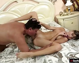 Gina gerson blows licked asslicks and acquires drilled by old fellow
