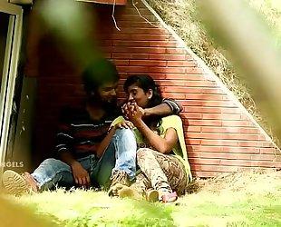 Indian pair boob cram & fuck in park