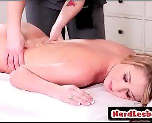 Redhead masseuse giving a fleshly massage - mandy armani & siri