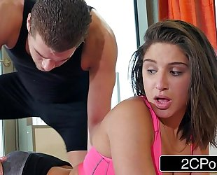 Yoga freak abella danger receives a intimate session with a pervy instructor